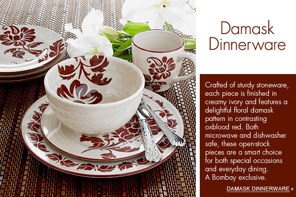Bombay > Tabletop > Collections > Damask