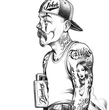 "Trying to locate the tatoo artist ""Cartoon"" not sure if that is how he"