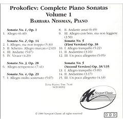 Prokofiev: Piano Sonatas, Vol. 1, Nissman