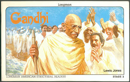 Gandhi (Longman American Structural Readers, Stage 2), Jones, Lewis; Szolkowski, Roman (illustrator)