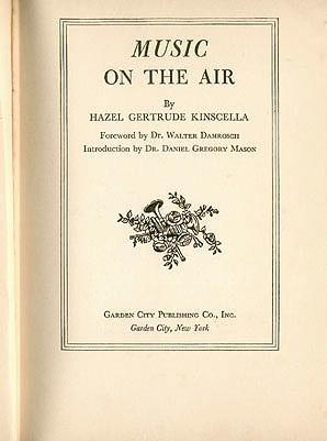 Music on the Air , Kinscella, Hazel Gertrude Kinscella