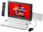 東芝 dynabookQosmioG40/97C T7300/17WUX/512Mx2/160Gx2/HD-DVD-R/TV/HomePrem/Offi2007 PQG4097CRP