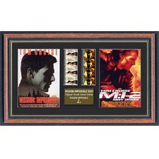 "Actual Film Cell From ""Mission Impossible 1 & 2 Duo"" In A Quality Frame"