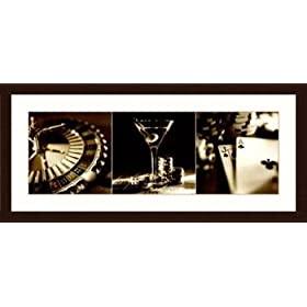 Casino Royale 1 Framed Art Poster Print by Julie Greenwood, 44x21