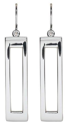 Sterling Silver Rectangular Drop Earrings
