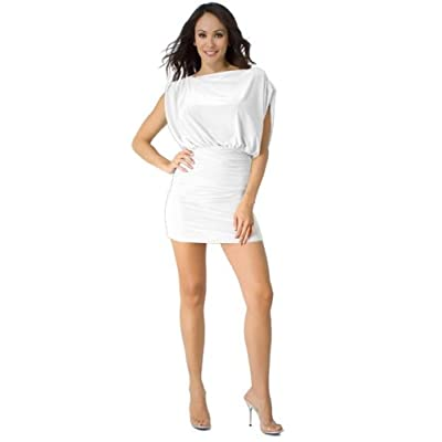 short white party dress