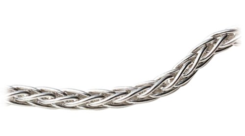 14k White Gold 1.5mm Italian Round Wheat Chain Necklace, 18\