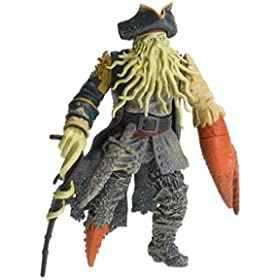 """Pirates of the Caribbean 7"""" Action Feature Figure  - Davy Jones with Menacing Arm and Snapping Claw"""