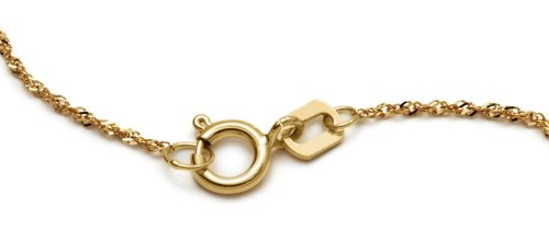 14k Yellow Gold Heart Necklace, 17\