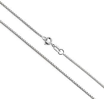 14K White Gold Venetian Box Chain - 18\