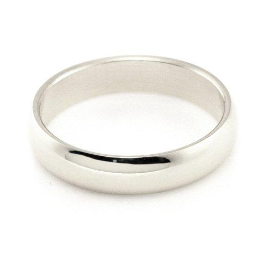 Popular Wedding Ring 10K White Gold Wedding Bands 4mm Half Round