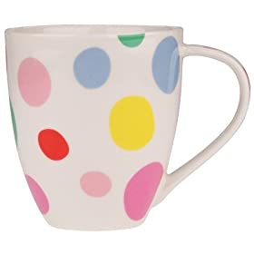Cath Kidston LARGE Crush Mug - Bubbles: Kitchen & Home :  polka dot retro cath kidston bubbles
