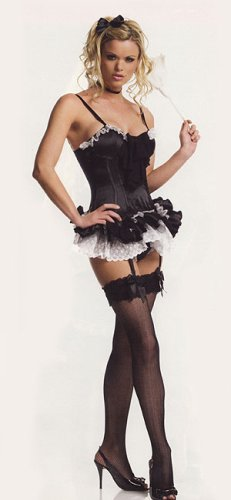 So Sexy French Maid Corset Lingerie