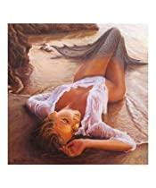 The stranded mermaid Motivational Giclee Poster Print by Marco Busoni, 16x20