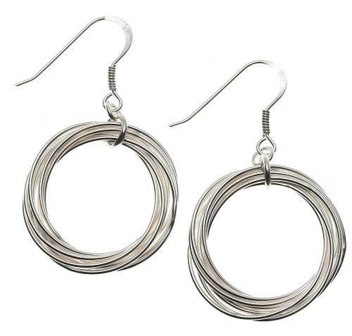 Sterling Silver Small Eternity Earrings