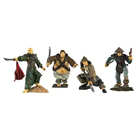 """Pirates of the Caribbean 3 - Pirate Captain & 2.5"""" 4 Pack - Chinese Pirate Crew"""