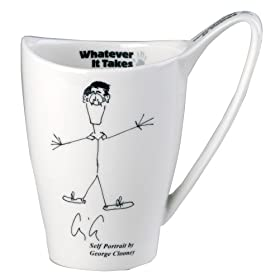 Whatever It takes George Clooney mug in association with Churchill China: Kitchen & Home :  collectible george clooney mug celebrity