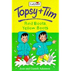 Red Boots, Yellow Boots Childrens Story Book about Wellington Boots and rain