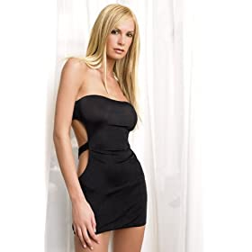 Leg Avenue Two Piece Slinky Tube Dress with Cut Out Back