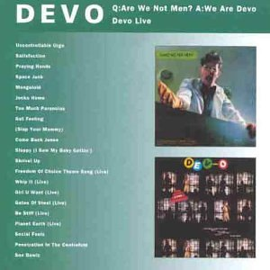 DEVO - Q: Are We Not Men a: We Are Devo/Devo Live - Zortam Music