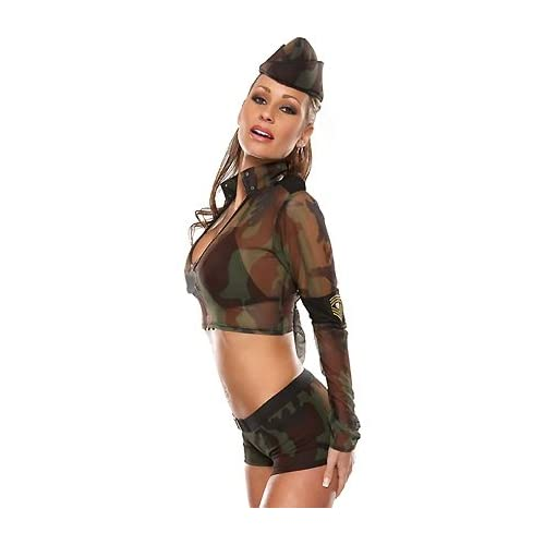 Sexy Models in G.I. Girl - Women's Sexy Military Costumes Lingerie Outfit