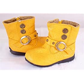 Yellow Toddler Boots