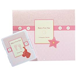 Baby Prints First Year Calendar - Pink