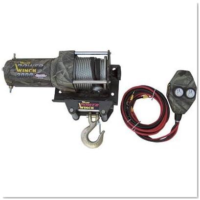 Camouflage ATV Winch - 3000-Lb. Capacity, Mossy Oak New Break-Up Pattern