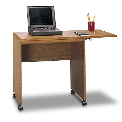 Bush Typing Table, Dark Oak Finish