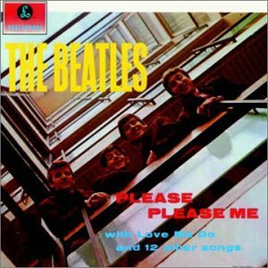 Original album cover of Please Please Me by The Beatles