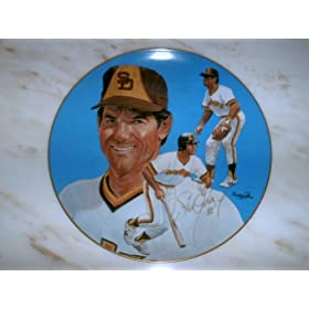 Steve Garvey Autographed Collector Plate