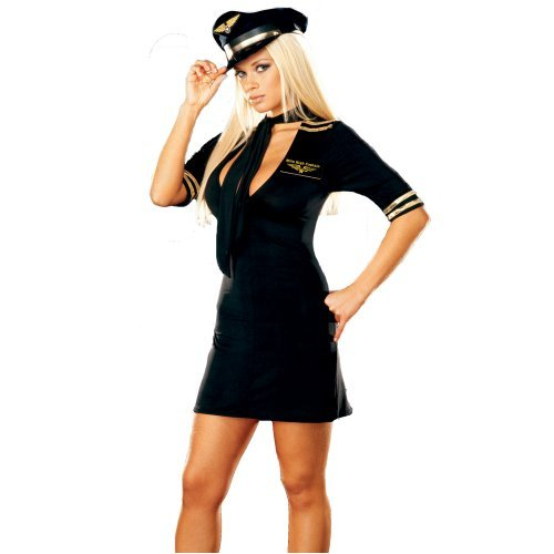 Sexy Girls in Mile High Captain Adult Costume