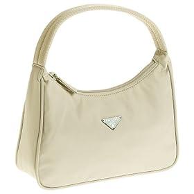 Prada Women's MV515 Nylon Handbag, Lavanda Cream