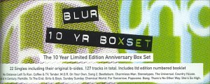 Blur - 10 Year Anniversary Box Set (22 CD-singles, booklet, & case) - Lyrics2You