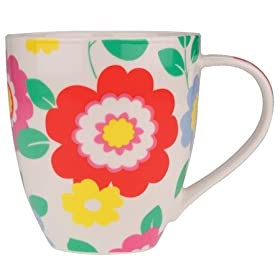Cath Kidston LARGE Crush Mug - Flower: Kitchen & Home :  floral cath kidston porcelain amazon