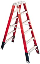 Werner T7412 Fiberglass Twin Ladder, 375 lb. rated