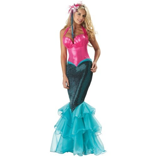 Sexy girl in Mermaid Elite Collection Adult costume