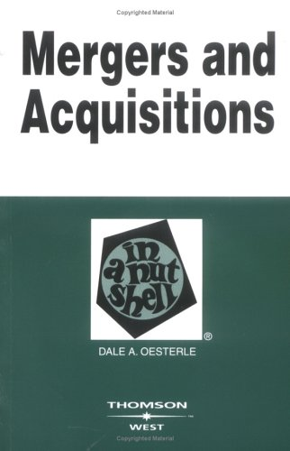 Mergers And Acquisitions in a Nutshell (Nutshell Series)