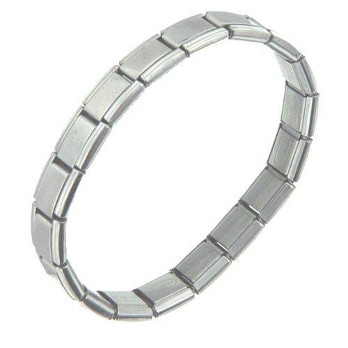 Pugster Starter Stainless Steel Accessory 18 Link Italian Charm Bracelet
