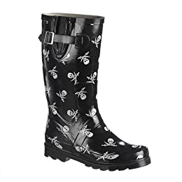 Target : Skull and Sword Rain Boots - Black/ White from target.com