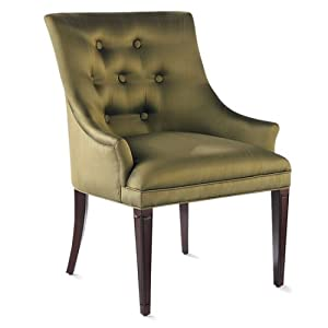 The Bombay Company Store: Benton Green Silk Chair :  silk mahogany accent chair home