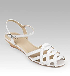 Classic Collection Pure Leather Woven Strap Sandals