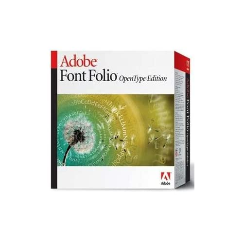 Adobe Font Folio OpenType Edition for MAC and PC (1 cd)