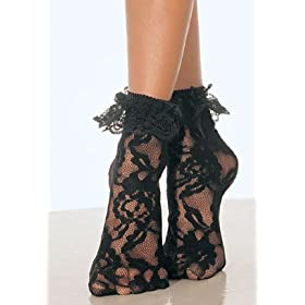 Leg Avenue Lace Anklet with Ruffle