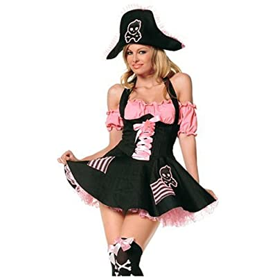 Sexy Girls in Leg Ave Women's 3 Piece Treasure Hunt Pirate Costume