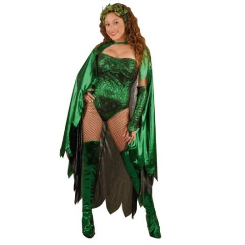 Sexy girl in Teen Poison Ivy Halloween Costume