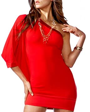 bebe.com : One-Shoulder Jersey Mini Dress