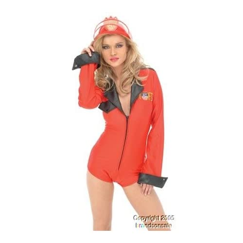 Sexy Girls in Halloween Costume : Ladies Sexy Firefighter Costume