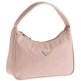 Prada Women's MV515 Nylon Handbag, Pink