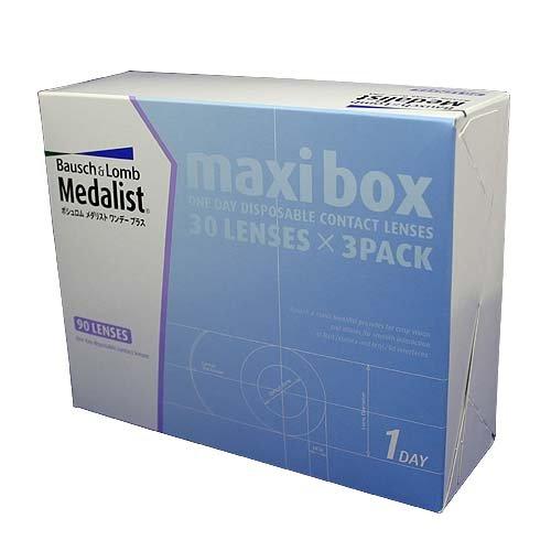 メダリストワンデープラス3箱セットマキシボックスコンタクト、1日タイプ、BC 8.6
